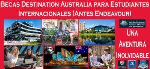 Becas Destination Australia para Estudiantes Internacionales (Antes Endeavour) | Estudia Gratis - Sitio Web Oficial - becas.org.es