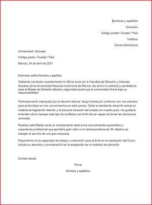 Ejemplos y Plantillas de una carta de motivos para descargar gratis | becas internacionales | Estudia Gratis - Sitio Web Oficial - becas.org.es