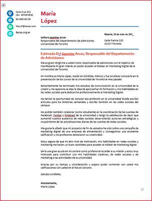 Ejemplos y Plantillas de una carta de motivos para descargar gratis | becas internacionales pro | Estudia Gratis - Sitio Web Oficial - becas.org.es