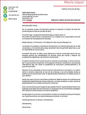 Ejemplos y Plantillas de una carta de motivos para descargar gratis | becas internacionales máster | Estudia Gratis - Sitio Web Oficial - becas.org.es