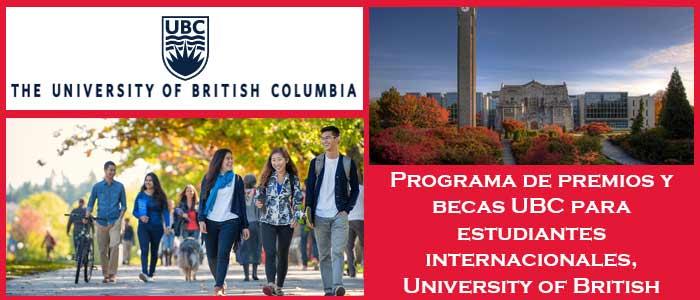 Becas y Premios para Estudiantes Internacionales en Canadá (Universidad) | 2. Programa de premios y becas UBC para estudiantes internacionales, University of British Columbia | Sitio Web Oficial Becas.org.es