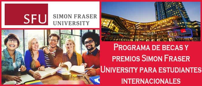 Becas y Premios para Estudiantes Internacionales en Canadá (Universidad) | 8. Programa de becas y premios Simon Fraser University para estudiantes internacionales | Sitio Web Oficial Becas.org.es